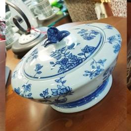 Crakle blue porcelain φοντανιέρα