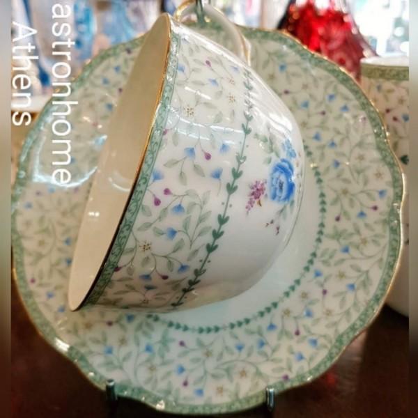 Τετ-α-τετ τσαγιού Bone porcelain Blue