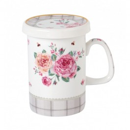 Κούπα Με Καπάκι Floral Paris Roses