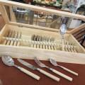 Teak wood μαχαιροπίρουνα σετ 24τεμ.